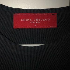 AKIRA Tops - AKIRA deep grey razor back crop top S